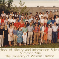 Master of Library and Information Science Graduating Class Summer 1984