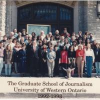 Master of Arts in Journalism Graduating Class 1992-1993