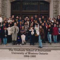 Master of Arts in Journalism Graduating Class 1994-1995