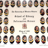 Master of Library and Information Science Graduating Class Spring 1992