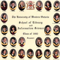 Master of Library and Information Science Graduating Class Summer 1992