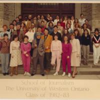 Master of Arts in Journalism Graduating class 1982-1983