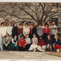 Master of Library and Information Science Graduating Class Spring 1985