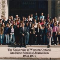 Master of Arts in Journalism Graduating Class 1993-1994
