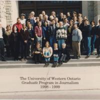 Master of Arts in Journalism Graduating Class 1998-1999
