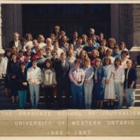 Master of Arts in Journalism Graduating Class 1986-1987