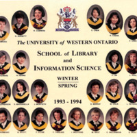 Master of Library and Information Science Graduating Class Winter-Spring 1993-1994
