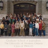 Master of Arts in Journalism Graduating Class 1984-1985