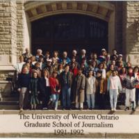 Master of Arts in Journalism Graduating Class 1991-1992