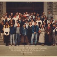 Master of Arts in Journalism Graduating Class 1988-1989