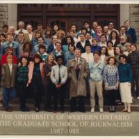 Master of Arts in Journalism Graduating Class 1987-1988