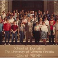Master of Arts in Journalism Graduating Class 1983-1984