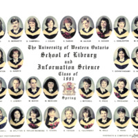 Master of Library and Information Science Graduating Class Spring 1991