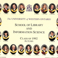 Master of Library and Information Science Graduating Class Fall 1992