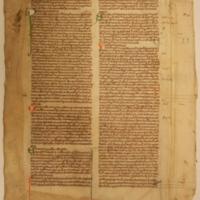 Medieval Text, single sheet [original]