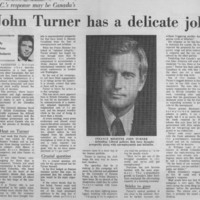 John Turner Has a Delicate Job